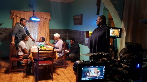 Likarion Wainaina directing Stycie Waweru Marrianne Nungo and Nyawara Ndambia